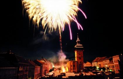 Feuerwerk über Retz