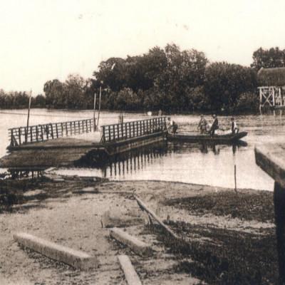 Drösing Überfuhr, um 1910