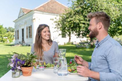 Gartenküche der alten Sorte