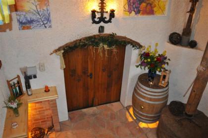 Weinverkostung in der gemütlichen Stube