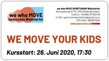 "Einladung zum Kursstart ""We Move Your Kids""!"