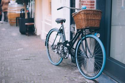 Fahrrad mit Korb