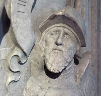 Grabmal von Niklas Graf Salm I. um 1530-1533 (Deckplatte, Ausschnitt – in der Votivkirche)