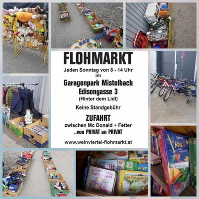 Jeden Sonntag Flohmarkt in Mistelbach