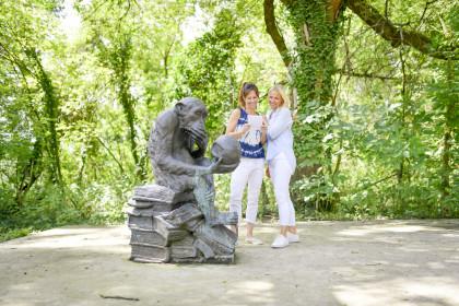 Affe im Auwald, Wasserpark Tulln