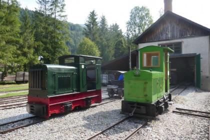 Feldbahnlokomotiven im Vorführbetrieb