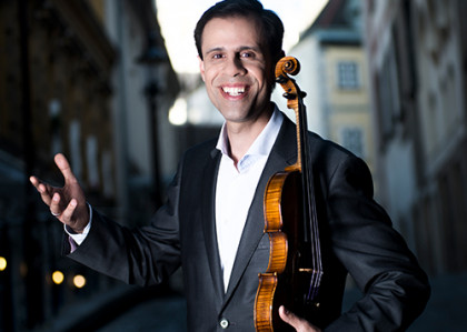 Vahid Khadem-Missagh und seine Violine Stradivahid
