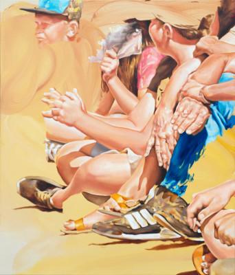 Martin Veigl, Street romance, 2020, Öl auf Leinwand, 140 x 120 cm
