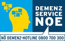 Kopf mit Logo Demenzservice NÖ