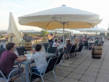 Terrasse mit herrlichem Blick auf Stift Göttweig