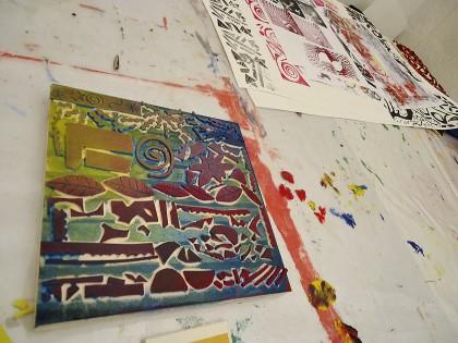 Papeir und Farbe, Workshop Christine Gobi
