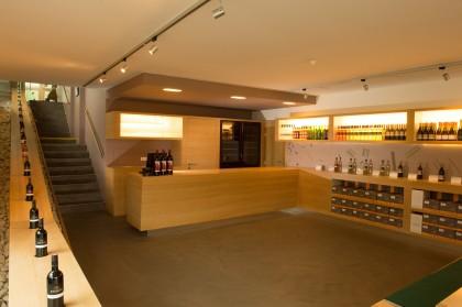 Verkaufsraum im Weingut