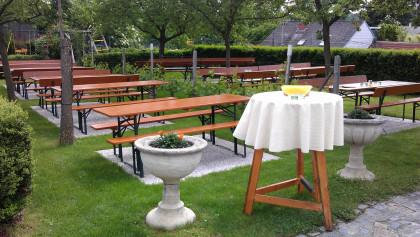 schöner Gastgarten