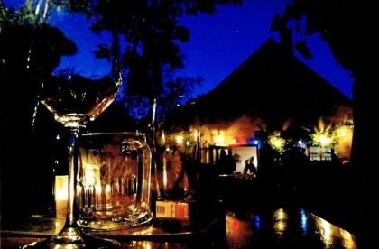 Abendstimmung beim Heurigen von Christa und Jonny Diewald