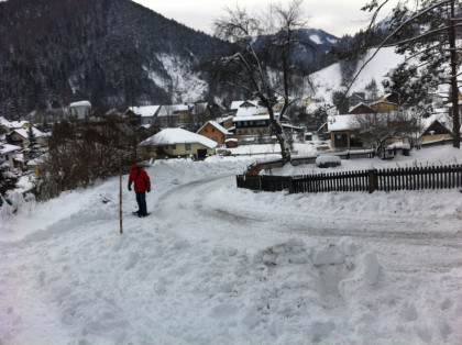 Schneeschuhwandern am Osterkogel in St. Aegyd