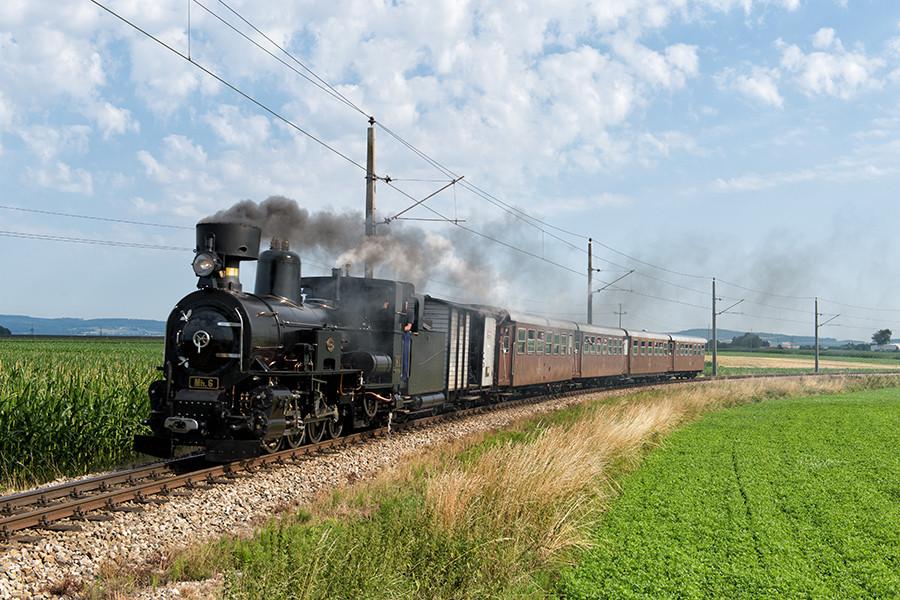 Dampfzug Mh.6 auf der Mariazellerbahn