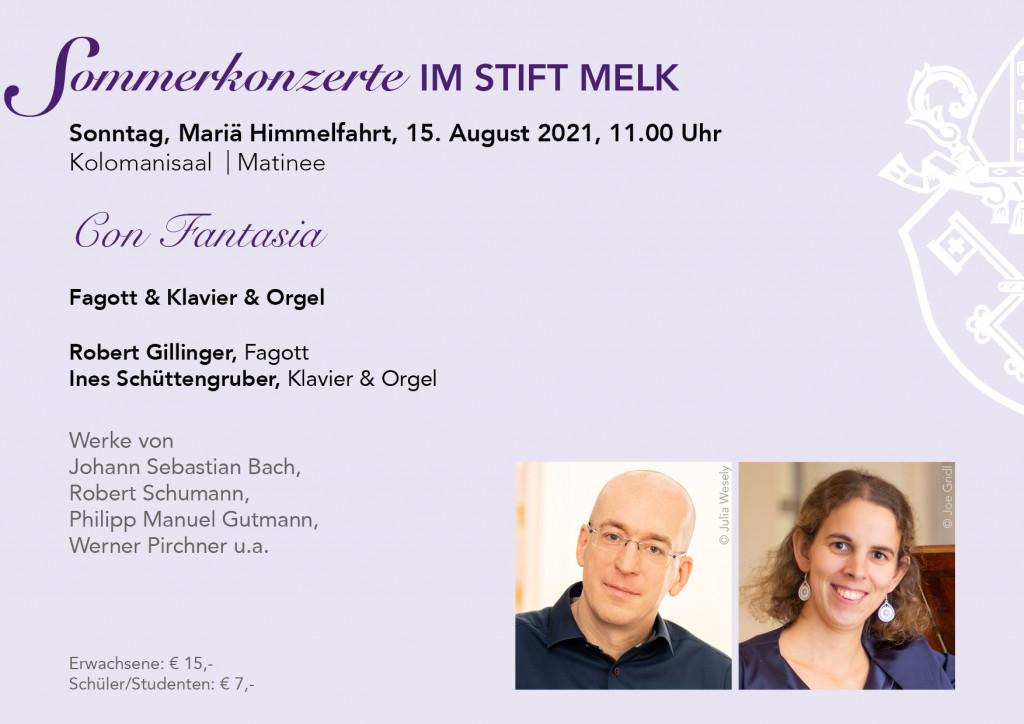 Sommerkonzert Matinee im Kolomanisaal