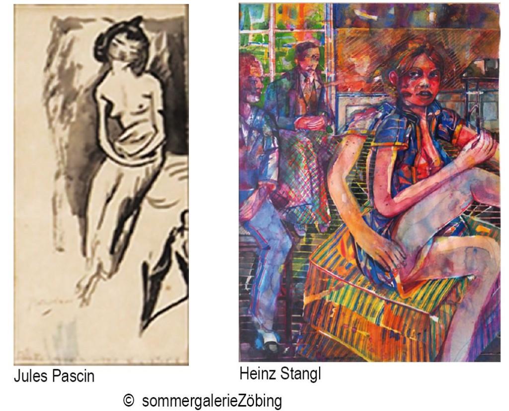 """Jules Pascin und Heinz Stangl - Ausstellung """"La Condition Humaine"""""""
