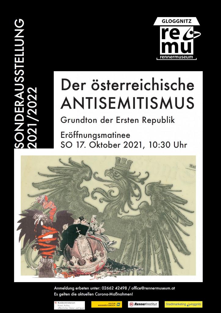 """Ausstellungseröffnung Matinee """"Der Österreichische Antisemitismus"""""""