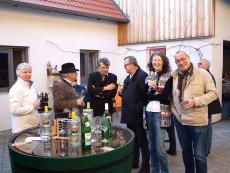 Weinpräsentation im Weinbauernhof Wiesinger