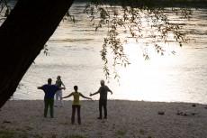 Übungen an der Donau