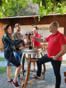 Weinverkostung Weinbau Gratzer -Sandriester, Prellenkirchen, Römerland Carnuntum