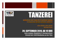 Tanzerei-Flyer September 2019