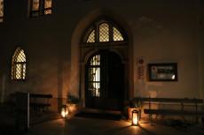 Die Franzenburg bei Nacht