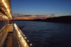 Abendstimmung am Schiff