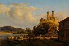 Thomas Ender, Blick auf Stift Melk, 1841