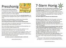7-Stern Honig und Bio Presshonig