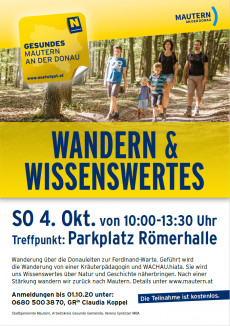 Plakat Wandern & Wissenswertes