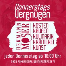 Donnerstags-Vergnügen im Weingut Hermann Moser.