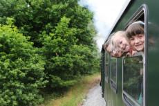 Fahrt  mit der Schmalspurbahn!