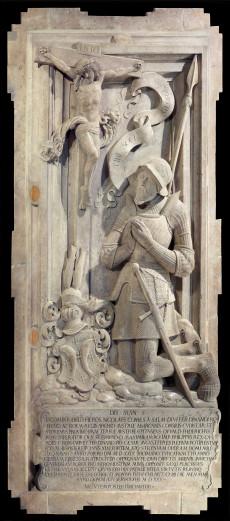 Grabmal von Niklas Graf Salm I. um 1530-1533 (Deckplatte, in der Votivkirche)