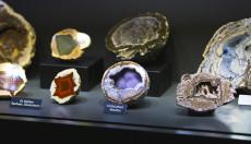eindrucksvolle Achate in der Sonderausstellung der Amethyst Welt