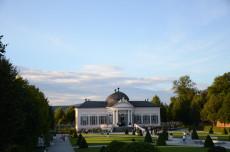 Gartenpavillon Abendstimmung