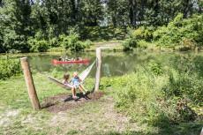 Hängematten im Wasserpark Tulln