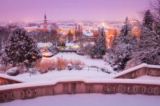 Baden im Schnee