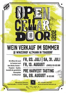 Plakat Open Cellar Door 2021