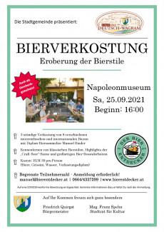 Plakat Bierverkostung: Eroberung der Bierstile am 25.09.2021 in Deutsch-Wagram