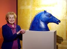 Heide Warlamis mit Pferd