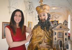 Melanie Thiemer im Stift Klosterneuburg