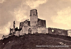 Burgruine Starhemberg in den 1880er Jahren