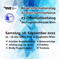 Plakat Öffentlichkeitstag Flughafenfreunde Wien