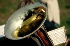 Unterhaltung mit Blasmusik