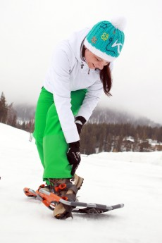 Christa beim Schneeschuhwandern