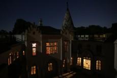 Franzensburg im Mondschein