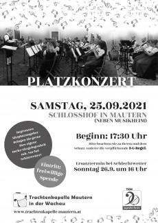 Plakat Platzkonzert