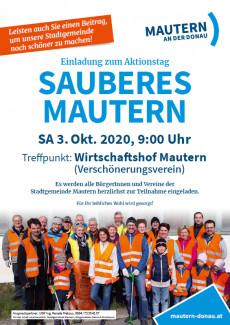 Plakat Sauberes Mautern